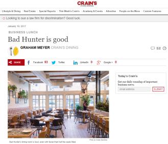 Bad Hunter - Crain's Chicago